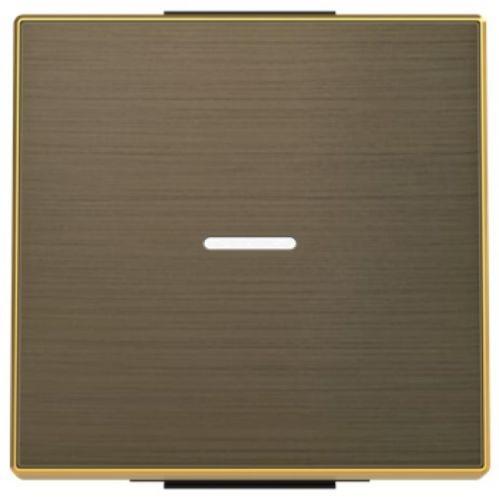 Панель лицевая ABB 2CLA850130A1201 для 1‐клавишных выключателей/переключателей/кнопок с линзой подсветки, античная латунь