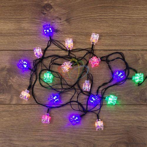 Фото - Гирлянда NEON-NIGHT 303-061 светодиодная, кубики, 20 LED мультиколор 2,8 метра с контроллером светодиодная уличная гирлянда бахрома neon night синего свечения 2 4х0 6 м 76 led