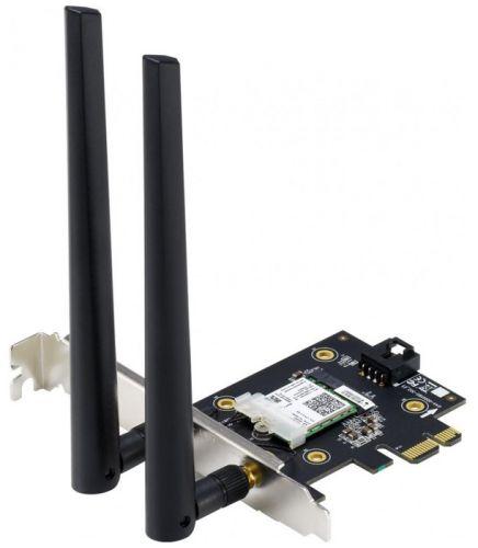 Сетевой адаптер ASUS PCE-AX3000 90IG0610-MO0R10 WI-FI 802.11ax, 2402 + 574Mbps, PCI-E Adapter, 2 антенны