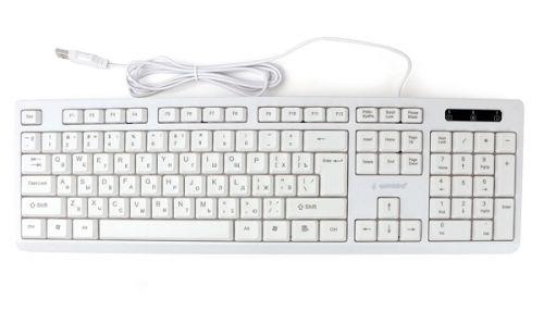 Клавиатура Gembird KB-8355U бежевая, USB, лазерная гравировка символов, кабель 1.85м