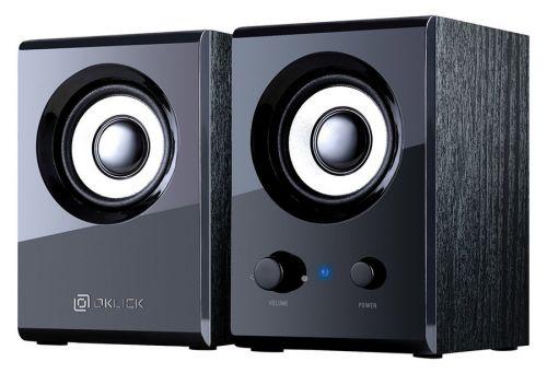 Компьютерная акустика 2.0 Oklick OK-160 D3 черный, 6 Вт