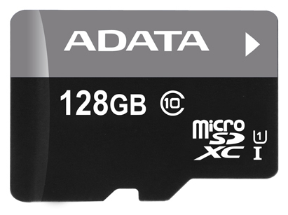 Карта памяти 128GB ADATA AUSDX128GUICL10-R A1  MicroSDXC Class10 Premier UHS-I (R/W 30/10 MB/s) без адаптера