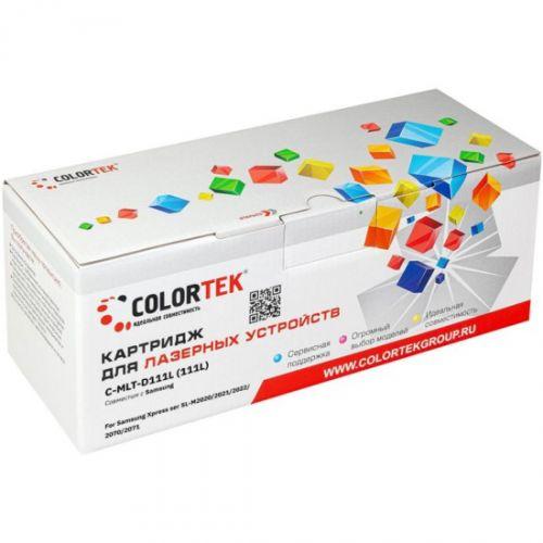 Картридж Colortek CT-MLTD111L для принтеров Samsung Xpress ser SL-M2020, Xpress ser SL-M2021, Xpress ser SL-M2022, Xpress ser SL-M2070, Xpress ser SL. недорого