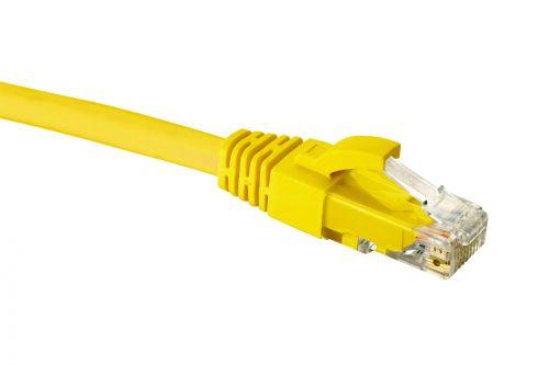 Фото - Кабель патч-корд U/UTP 5e кат. 0,3м. Eurolan 21D-U5-0CYL LSZH, желтый модуль eurolan 16b u5 03yl розеточный keystone кат 5e utp 1xrj45 t568a b желтый