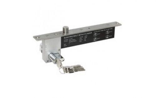 Замок Smartec ST-DB526MLT эл-мех. Соленоидный, для сплошных дверей с механическим цилиндром (ключ/поворотная кнопка), мониторинг, НЗ, 12VDC/200мА, сил