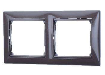 Рамка Legrand 770152 Valena 2 поста горизонтальная, IP20 (алюминий)