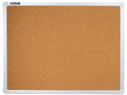Доска BRAUBERG 231711 пробковая, для объявлений, 45х60 см, алюминиевая рамка
