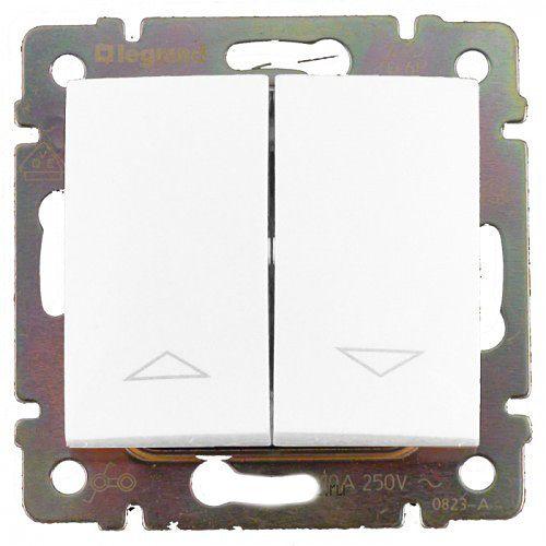 Выключатель Legrand 774404 для жалюзи Valena, 10А, 250В, IP20 (белый)