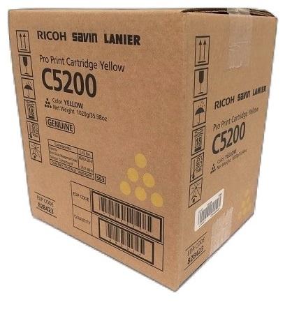 Ricoh Pro Print Cartridge Yellow C5200