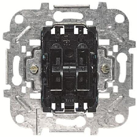 Выключатель ABB 2CLA814420A1001 механизм кнопочный 2-х клав, 2НО