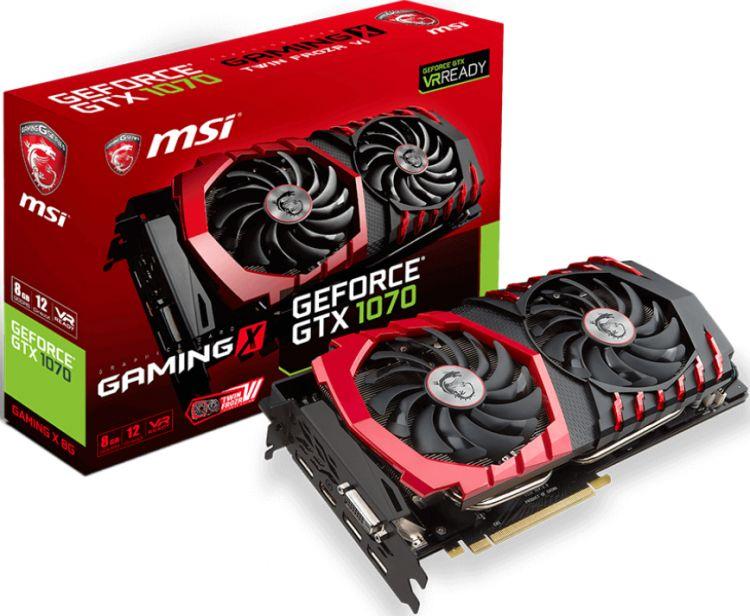 MSI GTX 1070 GAMING X 8G