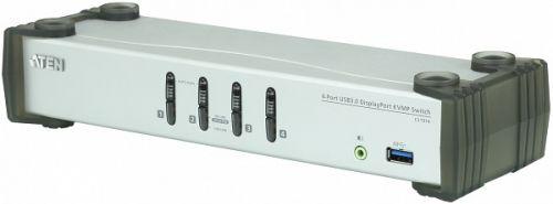 Коммутатор Aten CS1914-AT-G 4-портовый, USB 3.0, DisplayPort KVMP, кабели в комплекте