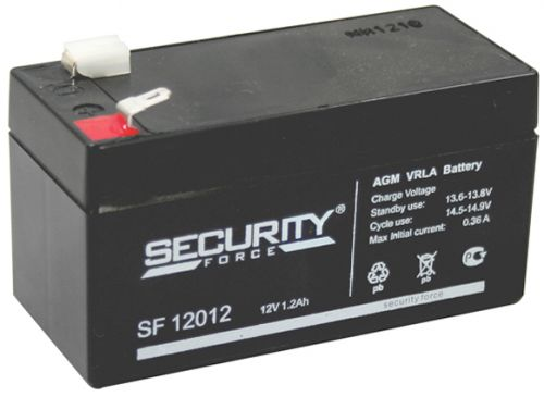 Аккумулятор Security Force 12В, 1.2 Ач SF 12012 герметичный свинцово-кислотный