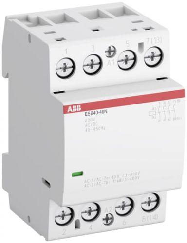 Контактор модульный ABB 1SAE341111R0140 ESB40-40N-01 модульный (40А АС-1, 4НО), катушка 24В AC/DC