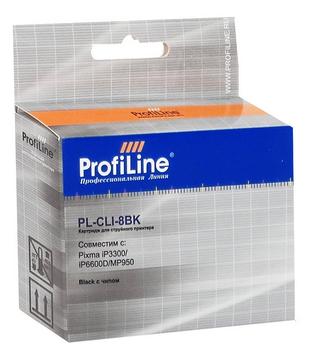 Фото - Картридж струйный ProfiLine PL-CLI-8BK-Bk Картридж PL-CLI-8BK для принтеров Canon Pixma iP6600D/MP950 с чипом Black водн ProfiLine картридж profiline pl