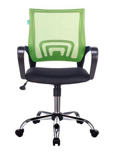 Кресло Бюрократ CH-695NSL цвет салатовый TW-03A, сиденье черное, TW-11, крестовина металл хром