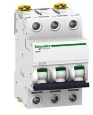 Автоматический выключатель Schneider Electric A9F79363 3P 63A (C)(серия Acti 9 iC60N) автоматический выключатель schneider electric ic60n 2п 10a c a9f79210