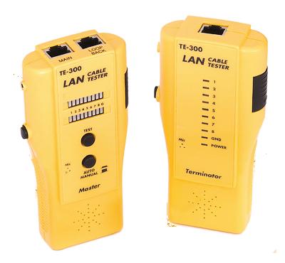 Кабельный тестер NikoMax NMC-TE300 UTP/STP, BNC, RJ11, RJ12, RJ45, со встроенным переговорным устройством