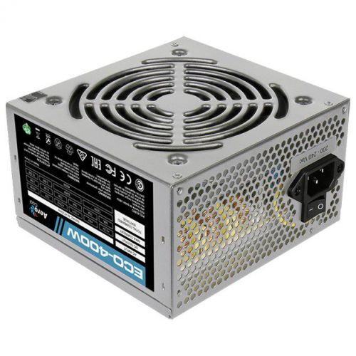 Блок питания ATX AeroCool ECO-400W 400W, 120mm fan