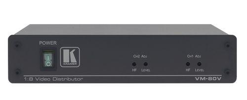 Усилитель-распределитель Kramer VM-80V 11-0280020 1:8 или 2х1:4, композитного видеосигнала, 1.3кг