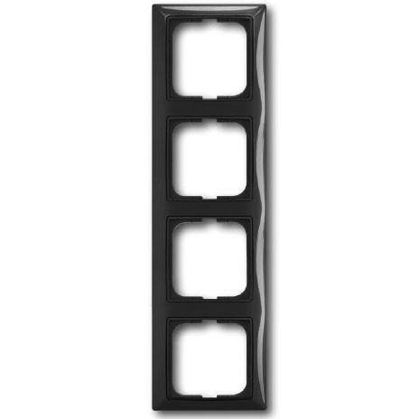 Рамка ABB 1725-0-1509 BASIC 55 4-ая, IP20 шато (чёрная)