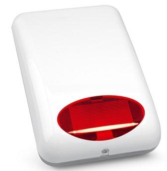 Оповещатель SATEL SPL-5010 R светозвуковой (сирена) внешний, красный, акустическая сигнализация: пьезоэлектрический преобразователь - 115 дб