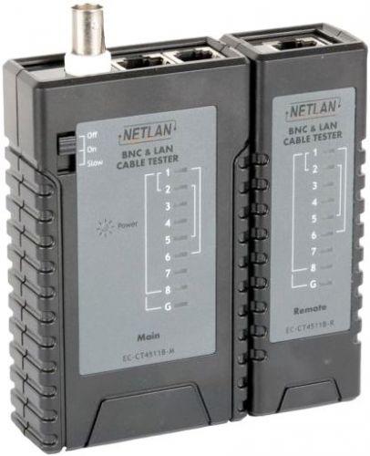 Кабельный тестер Netlan EC-CT4511B UTP/STP, RJ45, RJ12, RJ11, BNC