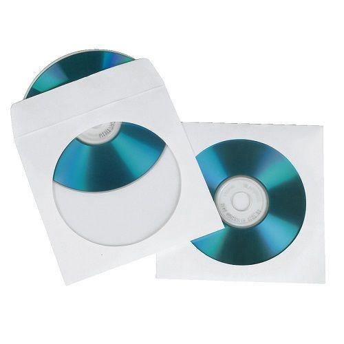 Конверт для CD/DVD HAMA H-62671 00062671 на 1CD/DVD белый (упак.:50шт)