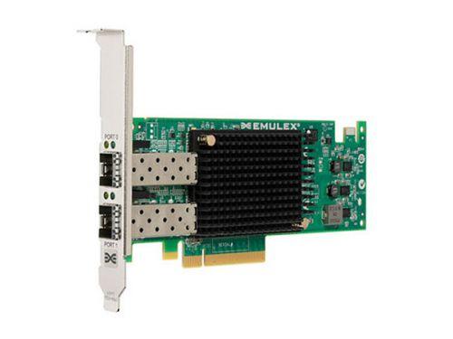 Адаптер Lenovo 01CV840 16GB FC Dual-port HBA Emulex контроллер qlogic qle2672 ck 16gb dual port fc hba x8 pcie lc multi mode optic активное охлаждение