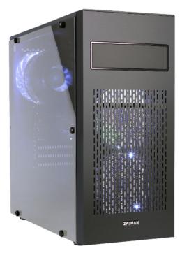 Корпус ATX Zalman N2 черный, с окном, без БП