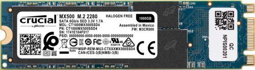 Фото - Накопитель SSD M.2 2280 Crucial CT1000MX500SSD4 MX500 1TB SATA 6Gb/s 560/510MB/s накопитель ssd crucial 500gb mx500 m 2 2280 ct500mx500ssd4n