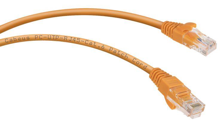 Cabeus PC-UTP-RJ45-Cat.6-3m-OR