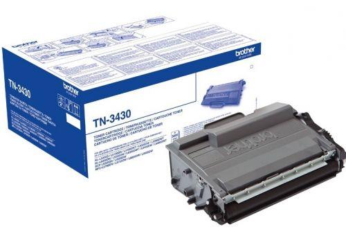 Тонер-картридж Brother TN-3430 для HL-L5000D/5100DN/5200DW/6300DW/6400DW/6400DWT/DCP-L5500DN/6600DW/MFC-L5700DN/5750DW/6800DW/6900DW (3000стр)