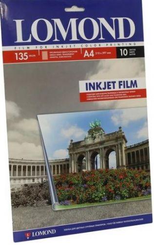 Бумага Lomond 07084111 Пленка Lomond для цветного струйного принтера А4, (Водораст./пигмент) прозрачная, толщ. 135 мк.