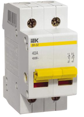 IEK - Выключатель нагрузки IEK MNV10-2-040