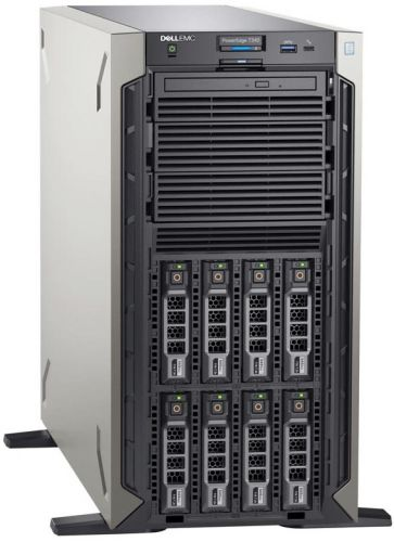 Фото - Сервер Dell PowerEdge T340 1xE-2224 1x16GbUD x8 1x1.2Tb 10K 2.5in3.5 SAS RW H330 iD9En 1G 2P 1x495W сервер dell poweredge r340 1xe 2174g 1x16gbud x8 1x1 2tb 10k 2 5 sas rw h330 id9ex 1g 2p 1x350w 3y
