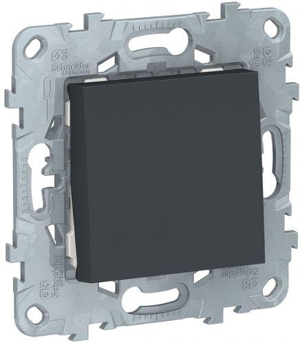 Фото - Выключатель Schneider Electric NU520154 UnicaNew, антрацит, 1-клавишный, сх. 1, 10 AX, 250В выключатель schneider electric nu520118 unicanew белый 1 клавишный сх 1 10 ax 250в