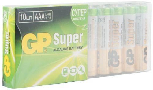 Батарейка GP Super Alkaline 24A LR03 24A-B10 1.5V, 10шт, size AAA