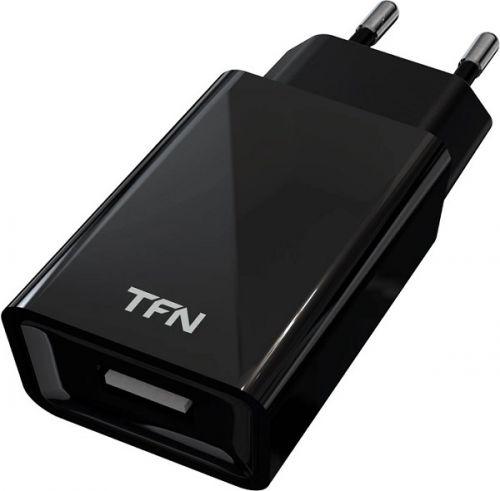 Фото - Зарядное устройство сетевое TFN WC1U1ABK 1A black б/кабеля автомобильное зарядное устройство deppa 4 8a black б кабеля