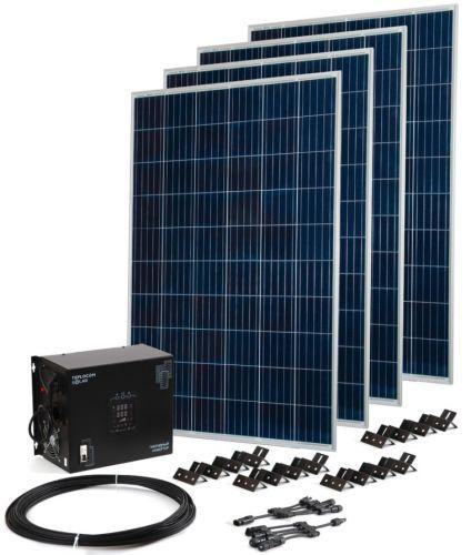 Комплект Бастион Teplocom Solar-1500+Солнечная панель 250Вт х4 250Вт х4 кабель 10 м MC4 коннекторы