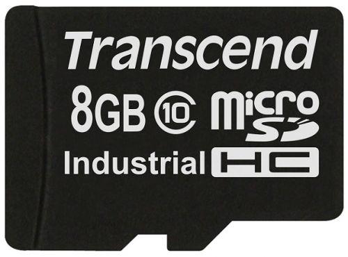 Карта памяти 8GB Transcend TS8GUSDC10I MicroSDHC Class10 Industrial Transcend без адаптера