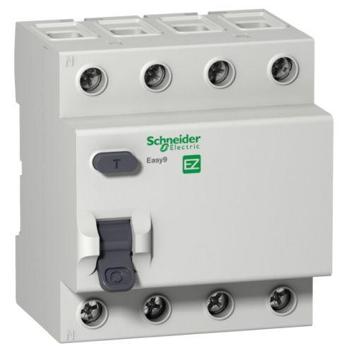 Фото - УЗО Schneider Electric EZ9R34440 4P 40А 30мА AC выключатель schneider electric 11463 дифференциального тока узо 4п 40а 30ма вд63 ас серия домовой