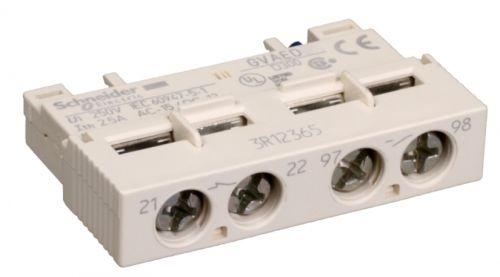 Контакт Schneider Electric GVAED101 фронтальный сигнализации аварийного отключения(НО)+доп. контакт мгновенного действия