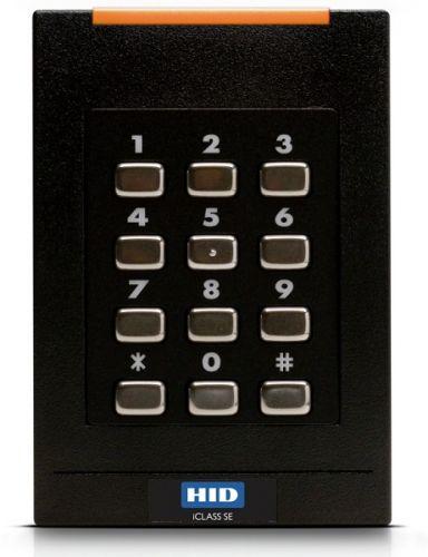 Считыватель HID RPK40 SE 921PTNNEK00000 с клавиатурой, черный. Работает с картами iClass, iClass SE и HID Prox, AWID, EM4102.