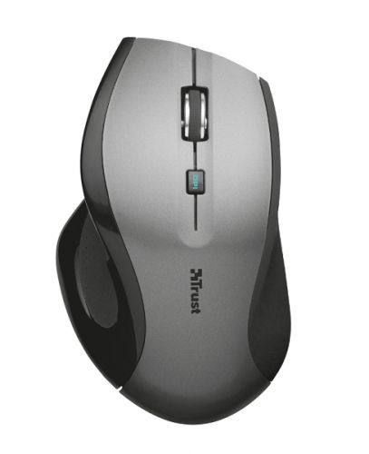 мышь trust varo wireless ergonomic mouse black usb Мышь Wireless Trust MaxTrack USB, 800-1600dpi, BlueSpot, black