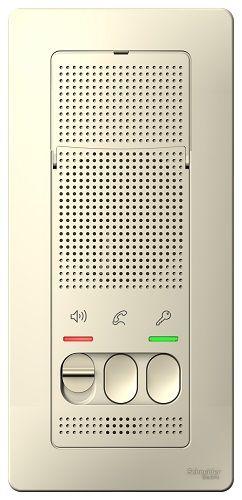 Переговорное устройство Schneider Electric BLNDA000012 Blanca (Домофон), 4,5В Молочное