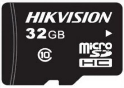 Карта памяти 32GB HIKVISION HS-TF-P1/32G microSDHC Class10 90MB/s/25MB/s для видеонаблюдения