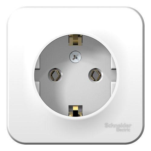 Розетка Schneider Electric BLNRA010101 с/з без шторок, 16А, 250В (белый) наруж