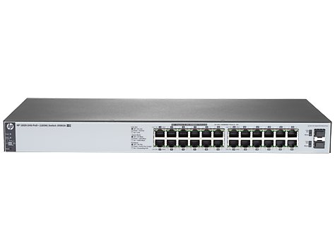 Коммутатор PoE HP J9983A 1820-24G-PoE+, 12x10/100/1000, 12x10/100/1000 PoE+ (185W), 2 SFP, WEB-managed