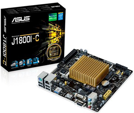 ASUS Материнская плата mini-ITX ASUS J1800I-C